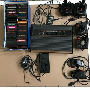 Vintage Atari Console Controllers 34 Games